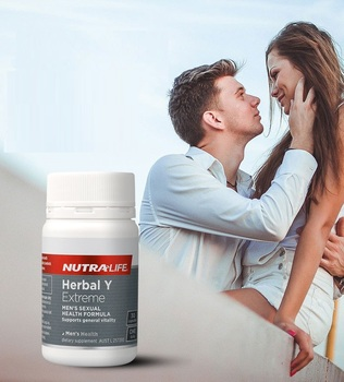 NutraLife HERBAL Y EXTREME Horny Goat Capsule Male Tonic Men Sexual Vigor Vitality Reproductive Health Sperm Dietary supplement image