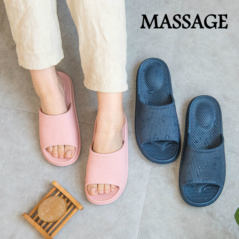 Summer Massage Indoor Slippers Women Bathroom Nonslip Shoes EVA Light Comfortable Home Slippers Candycolor Couple Shoes 35-45