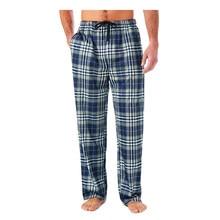 Homme Pantalons Maison Flanelle de Coton Automne Hiver Chaud Sommeil Bas Homme Grande Taille À Carreaux Pyjama Imprimé Pantalon de Pyjama Pour Homme