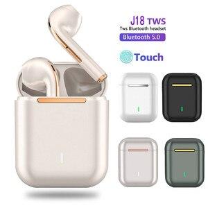 Original J18 Tws Bluetooth Earphones Touch Pop-up True Stereo Headsets Wireless Stereo Bluetooth 5.0 3 Hours Lightning Sport