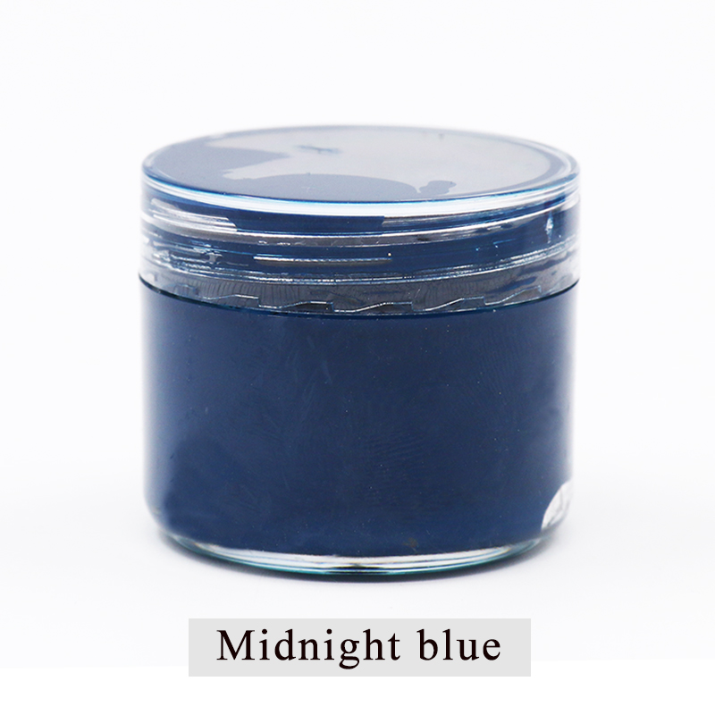 Hot Price #069b - Midnight Blue Leather Paint Shoe Cream ...