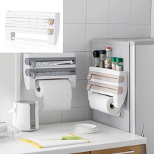 ABS multi-function paper towel rack kitchen with cutting plastic wrap storage