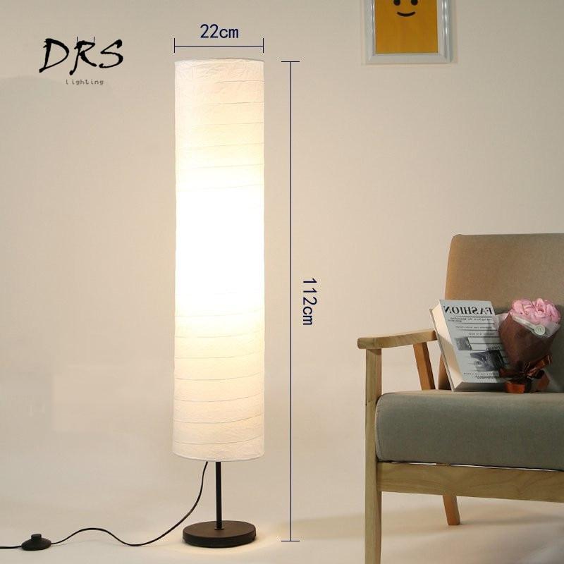 Nordic Modern Led Floor Lamp For Living Room Bedroom Design Luminaire Indoor Lighting Decoration Paper Lampshade Standing Lamp