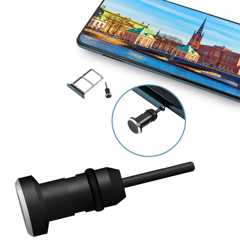 Earphone Dust Plug 3.5mm AUX Jack Interface Anti Mobile Phone Card Retrieve Card Pin for Apple Iphon
