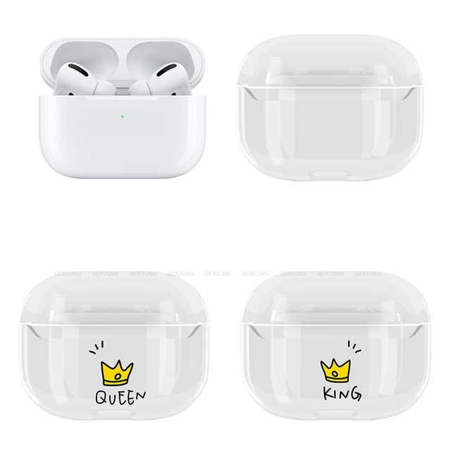 Cute Transparent Hard PC Protective Cover for AirPods Pro 1