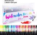 Маркеры акварельных цветов для рисования, 20/24/48 цветов, набор фломастеров для детей, ручка акварельных цветов для нанесения надписей, художе...