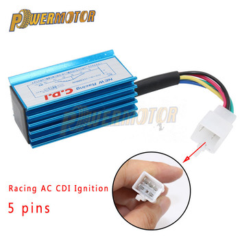 Motorcycle Scooter Ignition Coil Blue Racing AC CDI Ignition Box 5 pins For 50cc 110cc 125cc ATV Quad Pit Dirt Bike Go Kart Mope goofit gy6 4 stroke ignition coil plug for china made 50cc 70cc 90cc 110cc 125cc atv scooter dirt bike go kart moped h053 018 2