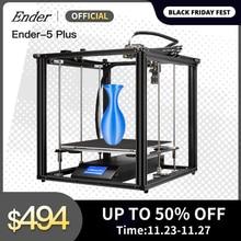 Ender 5 Plus 3D Drucker Hohe Präzision Große Größe 350*350*400 Drucker 3D Auto Nivellierung, dual Z achse Power Off Lebenslauf Creality 3D