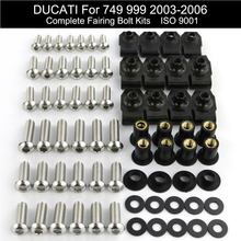 For Ducati 749 999 2003-2006 Complete Full Fairing Bolts Kit Stainless Steel Speed Nuts Clips Screws