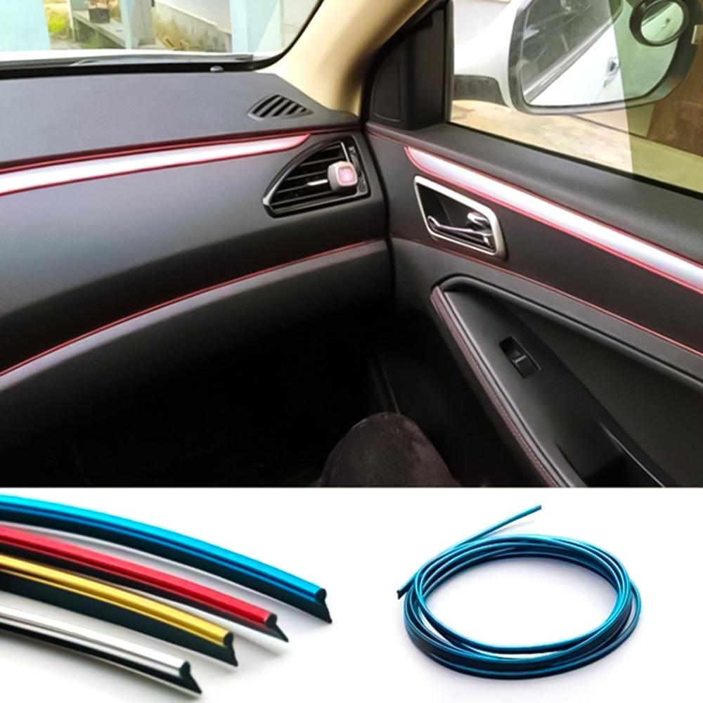 15 m/ètres Bande de garnitures de voiture flexible pour int/érieur de voiture Avec 3 outils dinstallation pour d/écoration de voiture