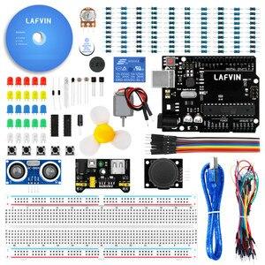 Image 2 - Le Kit de démarrage de base LAFVIN comprend un capteur à ultrasons, un fil de raccordement pour Arduino pour UNO avec tutoriel