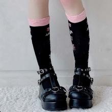 Gothic Cosplay kobieta Lolita śliczne damskie czółenka buty na koturnie buty damskie buty na wysokim obcasie pompy dziewczyny Student urocze buty tanie tanio Adisputent MARY JANE Klinowe CN (pochodzenie) okrągły nosek 3-5 cm Wysoka (5 cm-8 cm) Dobrze pasuje do rozmiaru wybierz swój normalny rozmiar