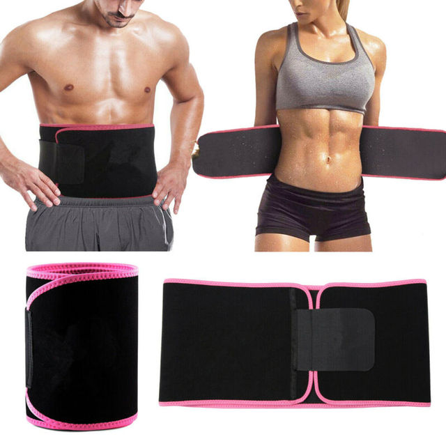 Men Women Waist Trimmer Belt Sweat Wrap Tummy Stomach Weight Loss Fat Burner Gym Slimming Belt