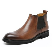 Man Shoes Chelsea Boots  Bootie Men Zapatos Hombre High Quality Streetwear Dress Genuine Leather