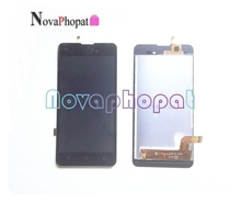 Novaphopat Black Screen For Wiko Sunny 2 plus Touch Screen Digitizer Sensor LCD Display Full Assembly Replacement +tacking