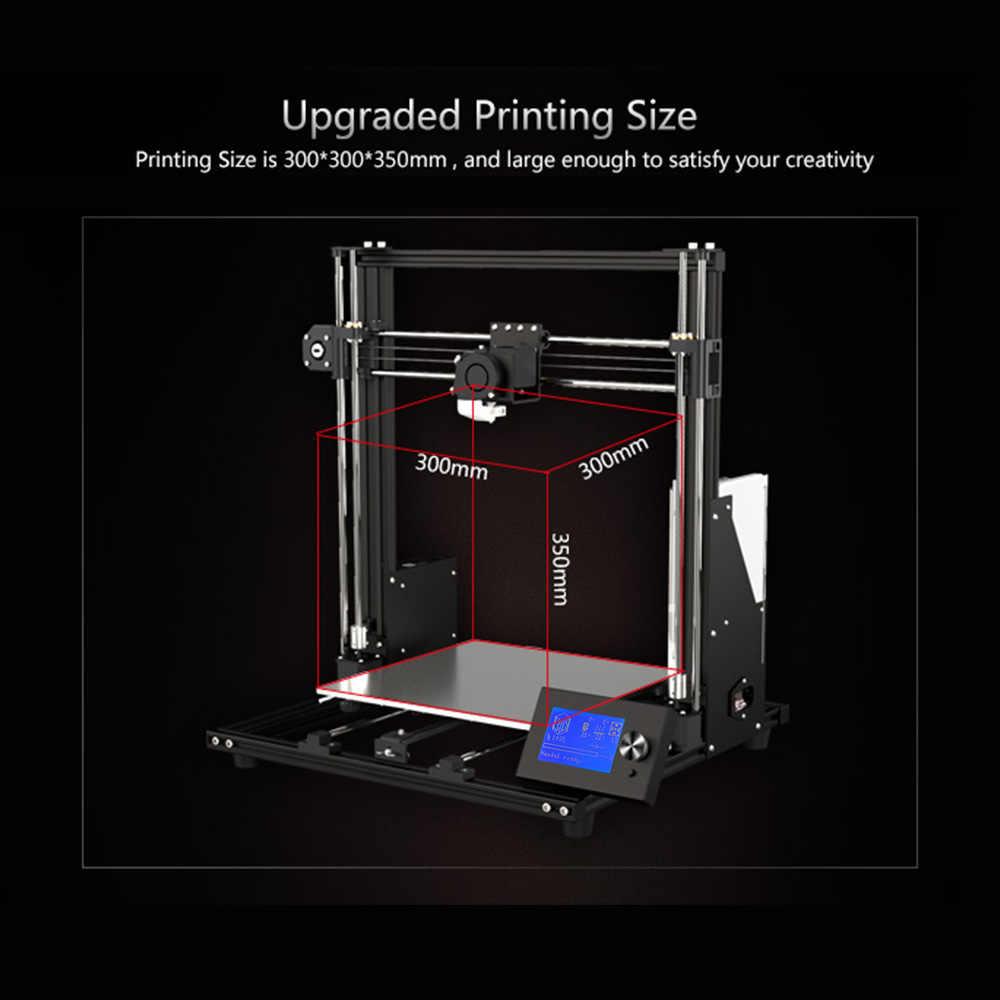 Kit de impresora 3D Anet A8 Plus, automontaje, placa base de protección contra sobrecorriente, Panel de Control LCD movible de 300x300x350mm
