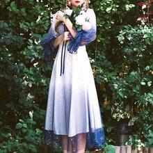 Женское платье феи во французском стиле Осеннее элегантное дизайнерское