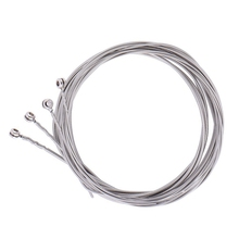 4 Pcs Stainless Steel Bass Strings Guitar Parts Accessories String Silver Plated Gauge Music