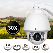 IMPORX 2MP WiFi Auto Tracking POE IP Camera Outdoor 30X Zoom IR 300M Audio Onvif P2P H.265 HD Wireless PTZ Security Camera