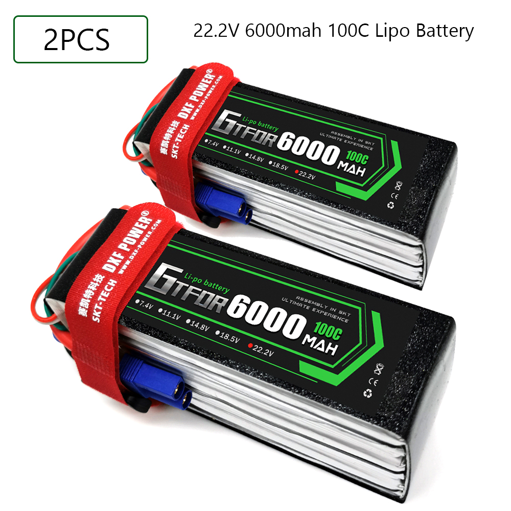 GTFDR 6S 22.2V 6000mah 100C-200C Lipo Battery 6S XT60 T Deans XT90 EC5 For FPV Drone Airplane Car Racing Truck Boat RC Parts image