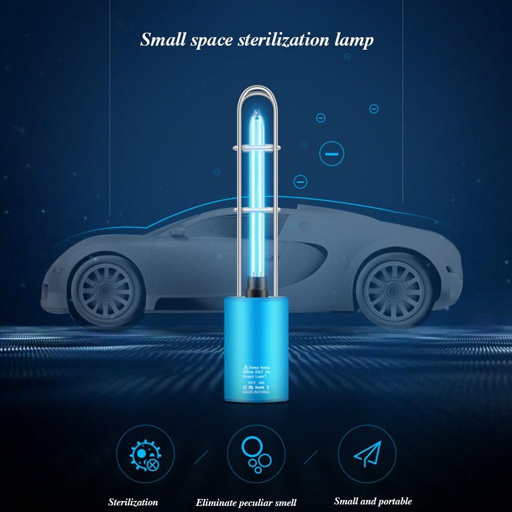 Portable Rechargeable USB 5W UV Desinfection  Lamp Quartz Tube Alloy Stainless Steel Home/Car UV Light