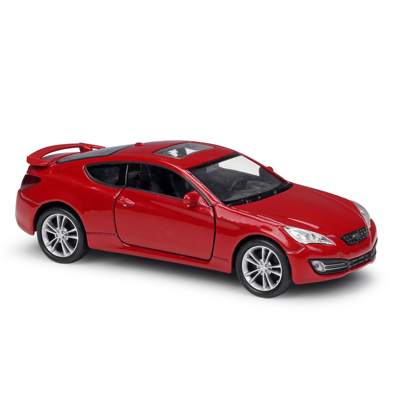 1:36 Welly Hyundai 2009 Genesis Coupe Red Die-cast Model Car