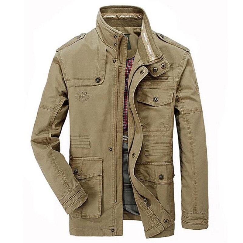 Jacket Men Causal Cotton Windbreaker Jackets Mens Military Outwear Flight Jacket Plus Size 7XL Men's Slim Trench Free Shipping