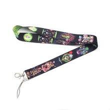 CA301 Рик и Морти Мультяшные шнурки для брелка ID карты пройти мобильный телефон USB бейдж держатель висячие веревки шнурок