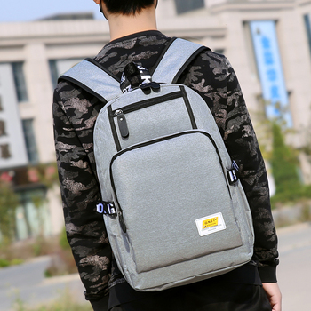 Middle High School Bags for Teenage School Backpack Men Laptop Oxford Bookbags Teen Campus College Bagpack Gray Large Capacity fashionable backpack for men pu waterproof backpack for high school students campus schoolbags large capacity computer