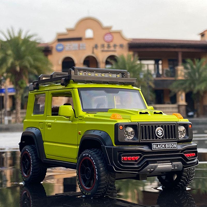 Tamanho grande 1:18 suzuki jimny fora de estrada veículo liga diecasts & veículos de brinquedo modelo de carro veículo fora de estrada brinquedo para crianças presente