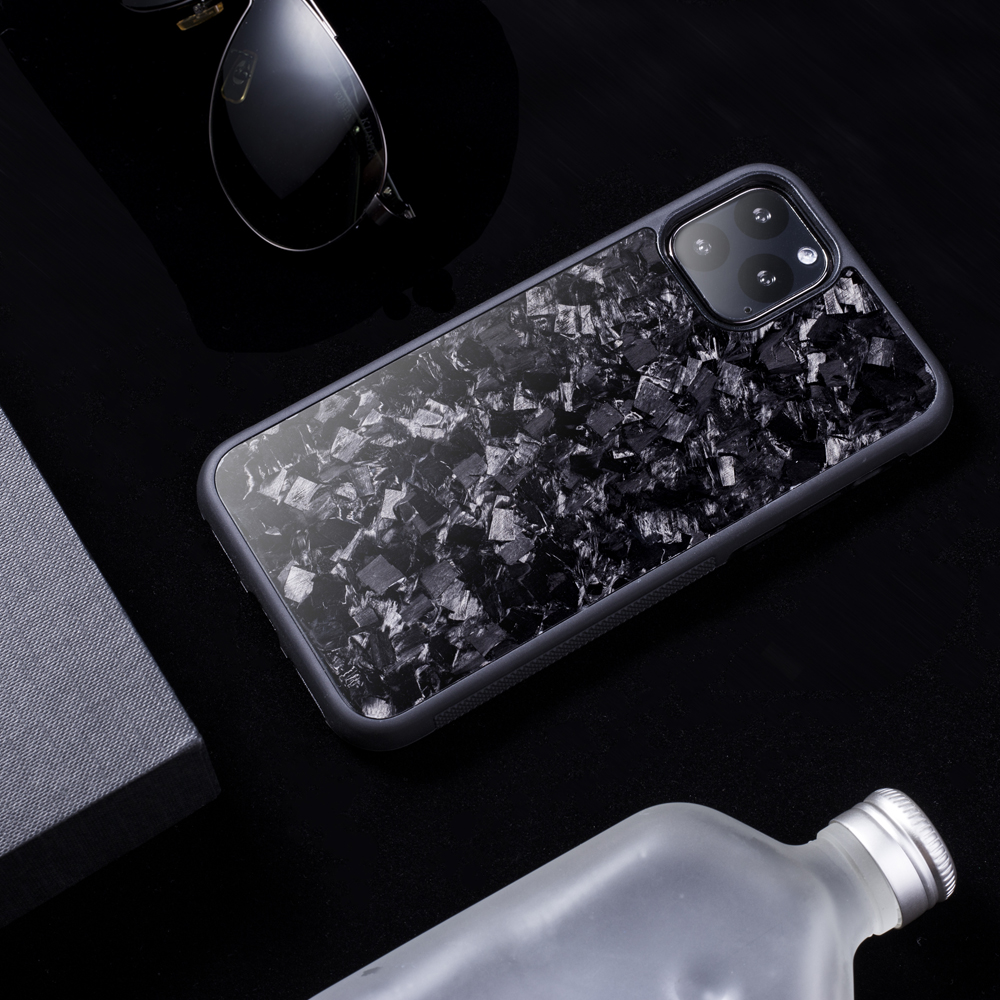 2019 Newest Non Slip Back Cover Real Forged Carbon Fiber Case for iPhone 11 iPhone 11Pro iPhone 11Pro Max Mobile Phone Case