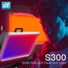 Полноцветсветодиодный RGB Светодиодная панель S300, непрерывное мягкое освещение для видеосъемки 2800 9990k, управление через приложение, затемнение с 12 цветными эффектами для студии