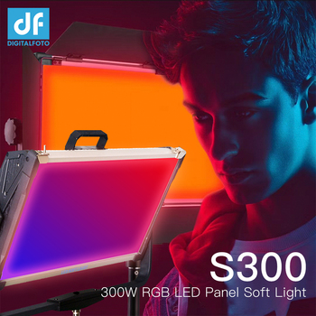S300 Full Color RGB LED Panel Continuous Video Soft Light 2800-9990k APP Control Dimming with 12 Color Effect for studio