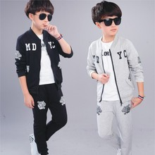 Kids Tracksuit Clothes-Sets Sweatshirts Teenager Pants Spring Sports-Suits Long-Sleeve