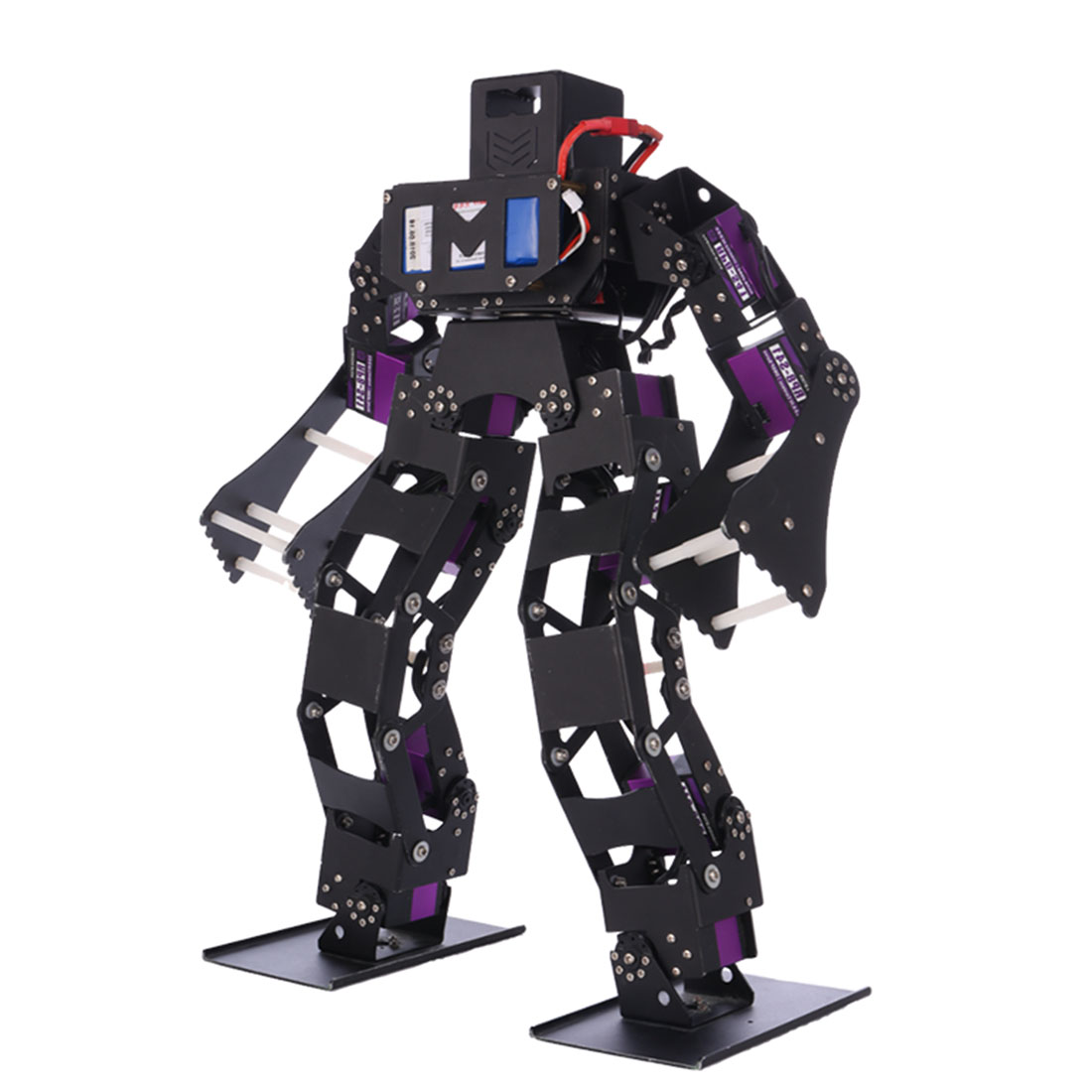 Programmable Biped Robot Boxing Competition Robot High Tech Toy DIY Stem Robot Compatible with Arduino / Microbit / STM32 / 51 2
