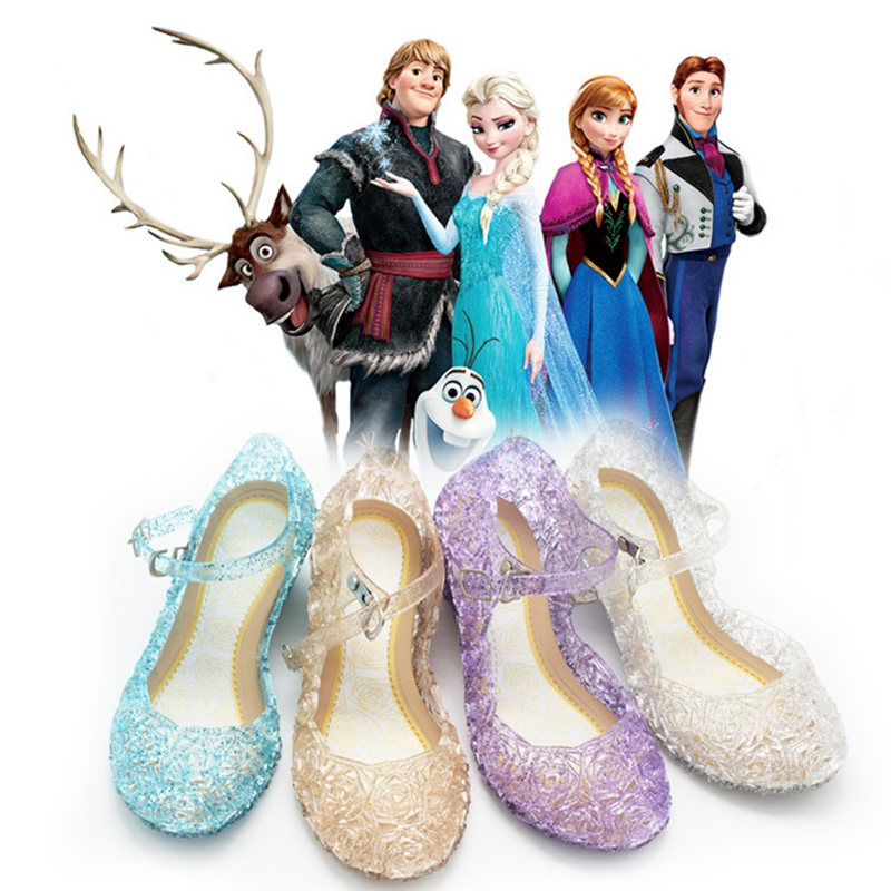 Shoes Cosplay-Costumes Light-Flicker Elsa Kids Princess Cinderella Christmas Halloween
