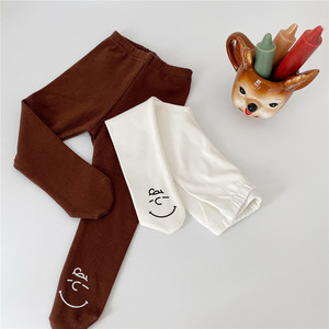 2020 Baby Spring Autumn Tights Baby Toddler Kid Girl Cartoon Print Stockings Cotton Pantyhose Solid Girl Tight 0-2 Years