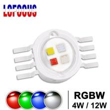 סופר מואר 4W 12W RGBW RGBWW RGBV LED שבב COB 3W אדום ירוק כחול לבן סגול מלא צבע DIY שלב DJ DMX אור מנורת בר הנורה