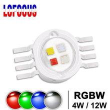 Super Bright 4W 12W RGBW RGBWW RGBV LEDชิปCOB 3Wสีแดงสีเขียวสีฟ้าสีขาวสีม่วงสีDIY Stage DJ DMX Light Barหลอดไฟ