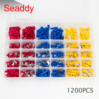 1200PCS Wire Connector Insulated Terminals Assorted 10 Kinds Copper Crimp Electrical waterproof wire connector|Terminals| |  -