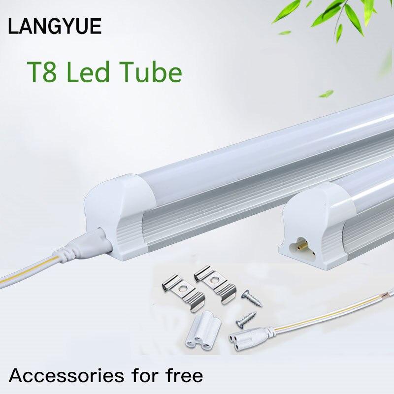 T8 T5 LED Light Tube 220V 8W 9W 10W Led Lights Energy Saving 600mm 60cm Tube Living Room Kitchen Home Lighting Cold White Light