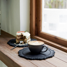Flower-Plate Dishes Insulation-Mat Decorative Coffee-Shop Koreanstyle Afternoon Morandi-Color