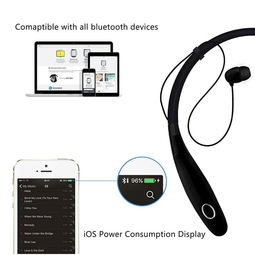 Design magnético neckband esportes fone de ouvido