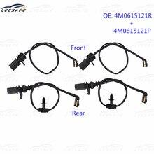 2 pares dianteiro + traseiro travão wear sensor 4m0615121r 4m0615121p para audi q7 4mb volkswagen 4v1 substituição do fio de indução do freio