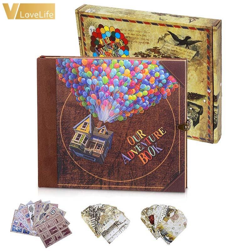 Libro de aventuras hecho a mano, álbum de fotos Retro Vintage, papel de álbum de recortes, regalo de boda para novia