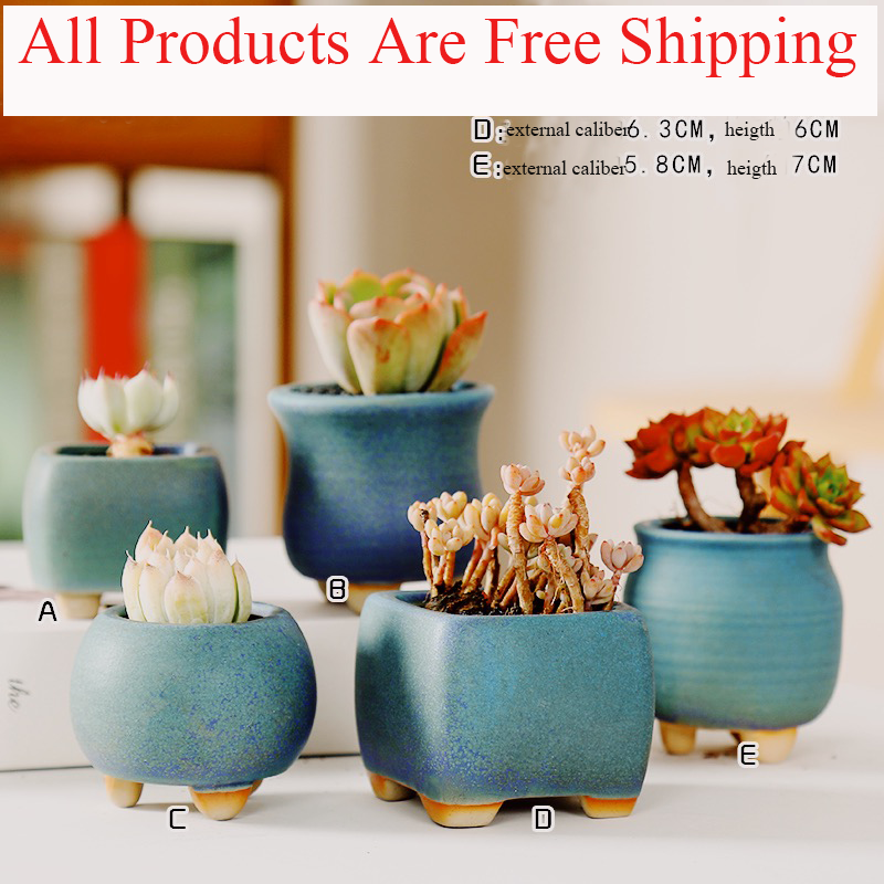 Ceramic Flower Pot Succulent Pots Cactus Pots Planter Garden Pots Ceramic Pot Outdoor Garden Home Decoration windowsill title=