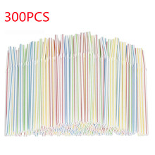 Disposable Straws Plastic Home Kitchen for Party-Bar Beverage Shops Rietjes Pipet 300pcs