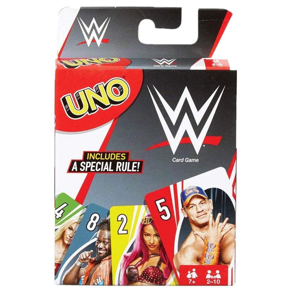 Mattel игры UNO WWE семья забавное развлечение настольная игра Веселые игральные карты Подарочная коробка Uno карточная игра