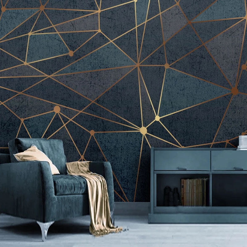 Custom Mural Wallpaper Modern Simple Abstract Creative Geometric Lines Wall Painting Living Room TV Sofa Background Wall Papers