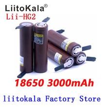 Liitokala bateria de 18650 3000 mah, descarga de 3.6v, 30a, baterias especiais + níquel para faça você mesmo